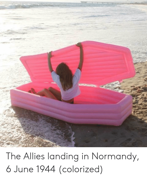 normandy: The Allies landing in Normandy, 6 June 1944 (colorized)