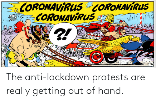 out-of-hand: The anti-lockdown protests are really getting out of hand.