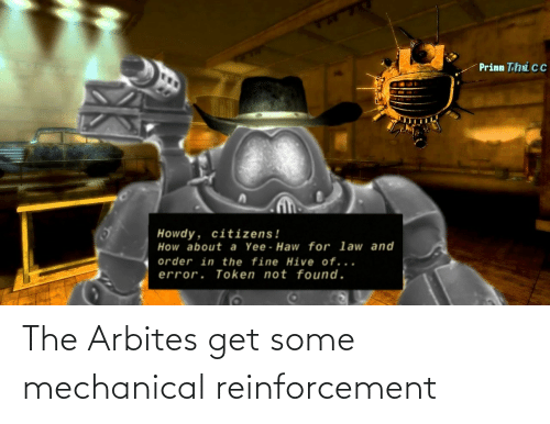 Reinforcement: The Arbites get some mechanical reinforcement