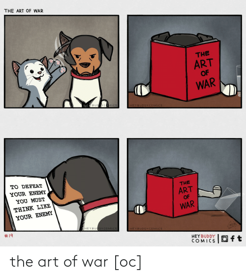 Must: THE ART OF WAR  THE  ART  OF  WAR  BUD CMICS  HEYBUDDYCOMICS  TO DEFEAT  YOUR ENEMY  THE  YOU MUST  ART  THINK LIKE  OF  YOUR ENEMY  WAR  #19  HEYBUODYCOMICS  HEYBUDDY COMICS  HEY BUDDY  COMICS  Oft the art of war [oc]