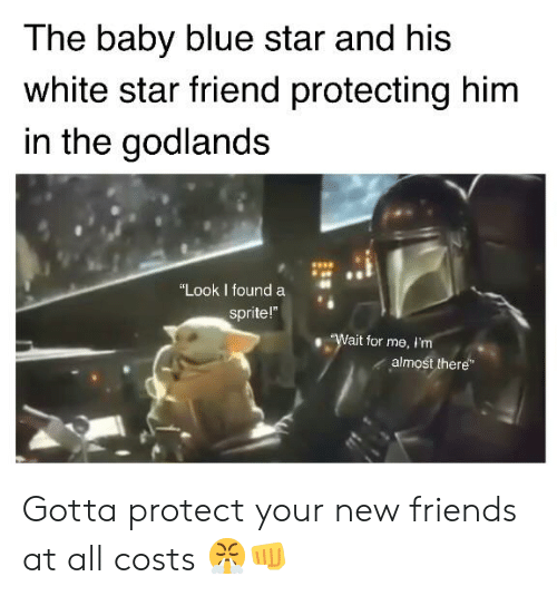 "Friends, Blue, and Star: The baby blue star and his  white star friend protecting him  in the godlands  ""Look I found a  sprite!""  ""Wait for me, I'm  almost there Gotta protect your new friends at all costs 😤👊"