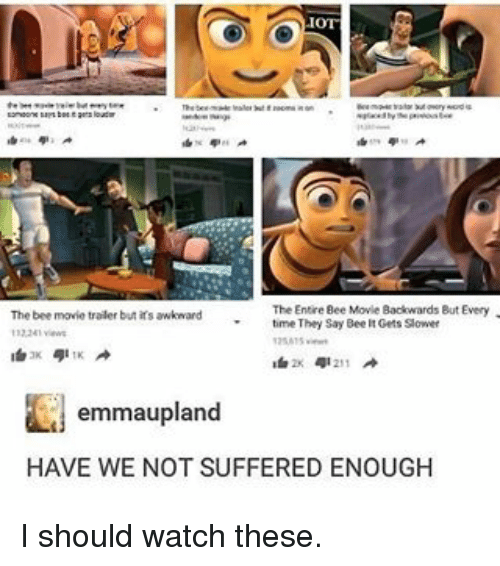 Bee Movie Irs And Memes The Trailer But Awkward