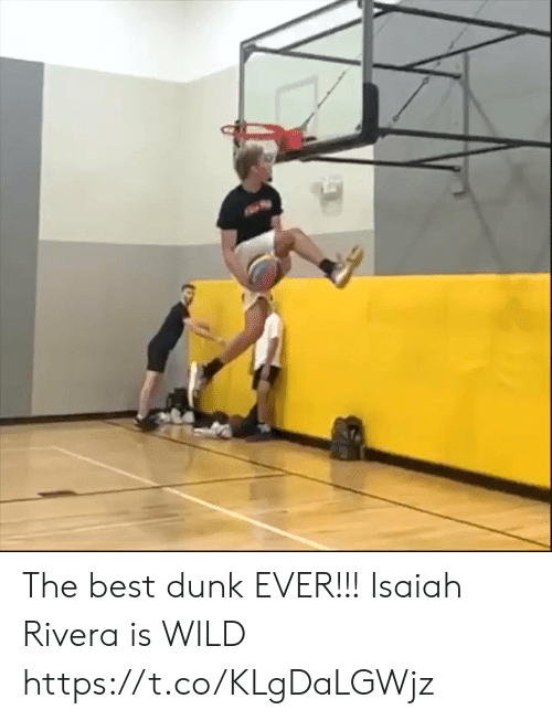 Dunk, Memes, and Best: The best dunk EVER!!! Isaiah Rivera is WILD https://t.co/KLgDaLGWjz