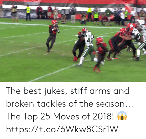 Top 25: The best jukes, stiff arms and broken tackles of the season...  The Top 25 Moves of 2018! 😱 https://t.co/6Wkw8CSr1W