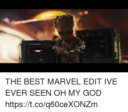 God, Oh My God, and Best: THE BEST MARVEL EDIT IVE EVER SEEN OH MY GOD https://t.co/q60ceXONZm