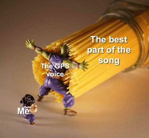 Gps, Best, and Voice: The best  part of the  song  The GPS  voice  Me