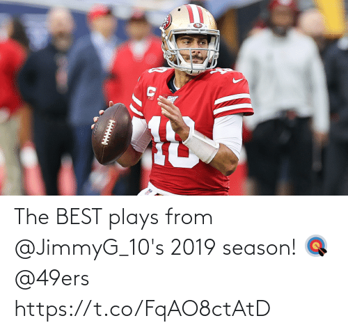 Plays: The BEST plays from @JimmyG_10's 2019 season! 🎯 @49ers https://t.co/FqAO8ctAtD