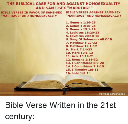 Does the bible speak against homosexual