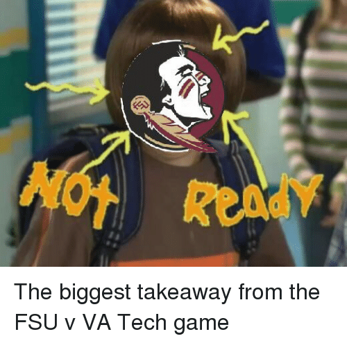 The Biggest Takeaway From The Fsu V Va Tech Game College Football
