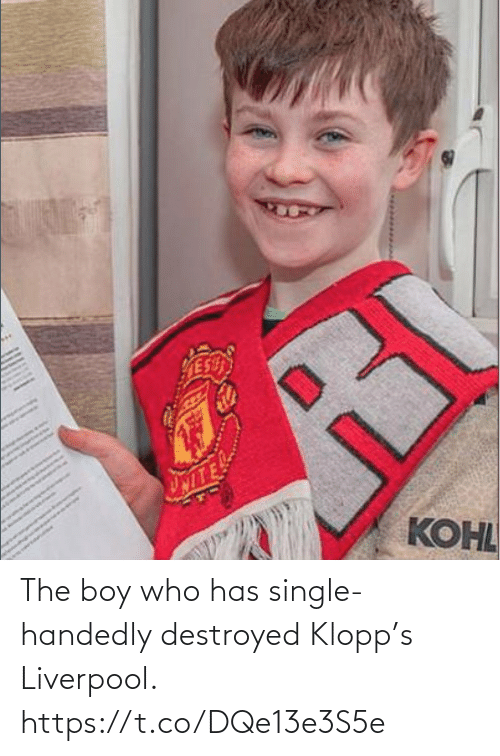 Single: The boy who has single-handedly destroyed Klopp's Liverpool. https://t.co/DQe13e3S5e