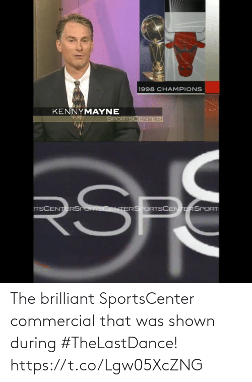 Brilliant: The brilliant SportsCenter commercial that was shown during #TheLastDance!  https://t.co/Lgw05XcZNG