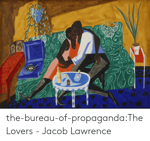 Lawrence: the-bureau-of-propaganda:The Lovers - Jacob Lawrence