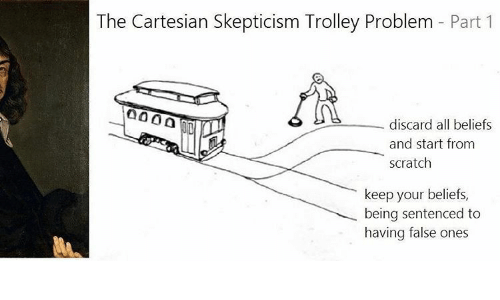cartesian skepticism Does the external world exist, as it so concretely seems perhaps not, says the cartesian skeptic after all, if you were dreaming or hallucinating, if an evil.