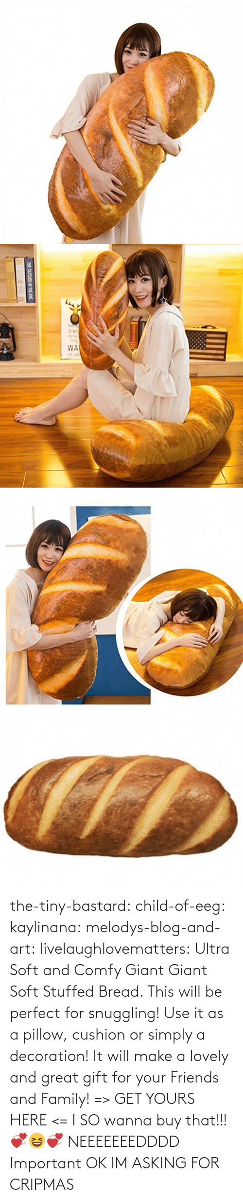 Giant: THE CATCHER IN THE RYE the-tiny-bastard:  child-of-eeg:  kaylinana: melodys-blog-and-art:  livelaughlovematters:  Ultra Soft and Comfy Giant Giant Soft Stuffed Bread. This will be perfect for snuggling! Use it as a pillow, cushion or simply a decoration! It will make a lovely and great gift for your Friends and Family! => GET YOURS HERE <=   I SO wanna buy that!!! 💞😆💞   NEEEEEEEDDDD   Important  OK IM ASKING FOR CRIPMAS