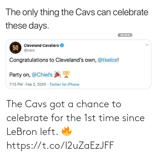 cavs: The Cavs got a chance to celebrate for the 1st time since LeBron left. 🔥 https://t.co/I2uZaEzJFF