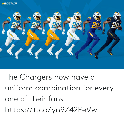 Chargers: The Chargers now have a uniform combination for every one of their fans https://t.co/yn9Z42PeVw