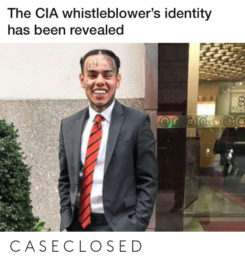 cia: The CIA whistleblower's identity  has been revealed C A S E C L O S E D