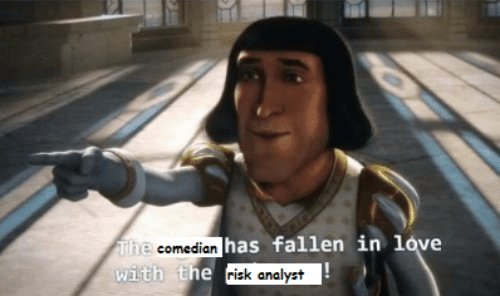 risk: The comedian has fallen in love  with the risk analyst