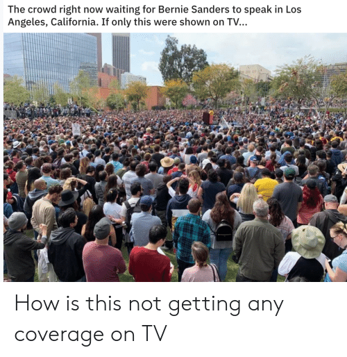 Bernie Sanders, Politics, and California: The crowd right now waiting for Bernie Sanders to speak in Los  Angeles, California. If only this were shown on TV… How is this not getting any coverage on TV