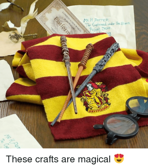 Drive, Stars, and  Magical: The Cupboard undir the Stars.  2PRivet DRive These crafts are magical 😍