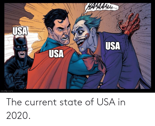 state: The current state of USA in 2020.