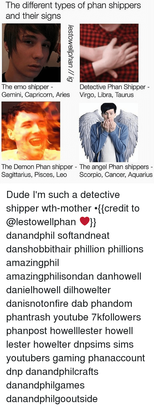 The Different Types of Phan Shippers and Their Signs the Emo