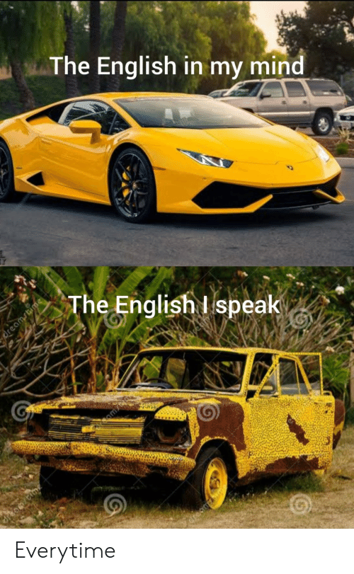 English, Mind, and Speak: The English in my mind  The English I speak  Creaa Everytime