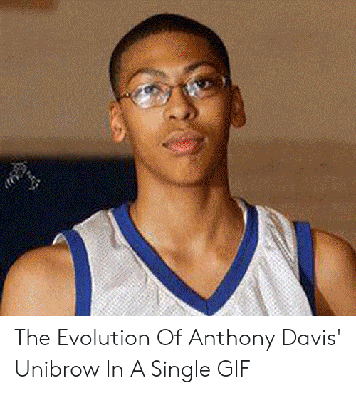 Davis Unibrow: The Evolution Of Anthony Davis' Unibrow In A Single GIF