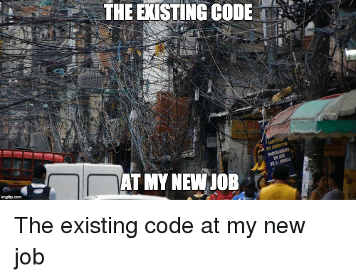 cred: THE EXISTING CODE'.'  DE CRED  S/ JUROS  AT MY NEW JOB The existing code at my new job
