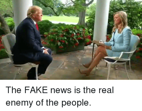 Enemy Of The People: The FAKE news is the real enemy of the people.