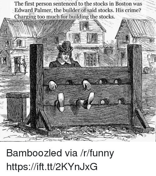 Stocks: The first person sentenced to the stocks in Boston was  Edward Palmer, the builder of said stocks. His crime?  Charging too much for building the stocks Bamboozled via /r/funny https://ift.tt/2KYnJxG