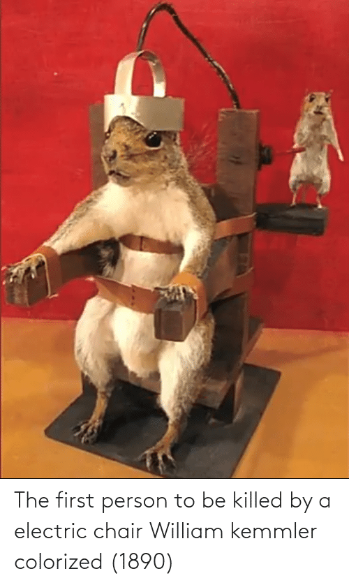electric chair: The first person to be killed by a electric chair William kemmler colorized (1890)