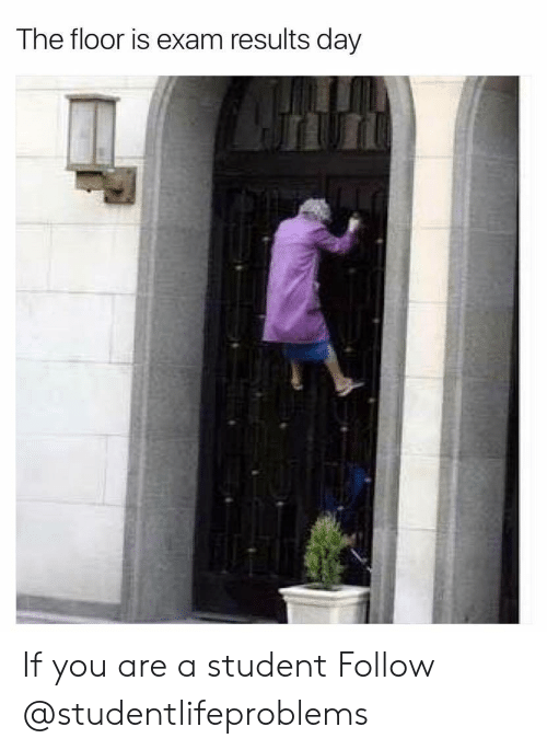 Tumblr, Http, and Com: The floor is exam results day If you are a student Follow @studentlifeproblems
