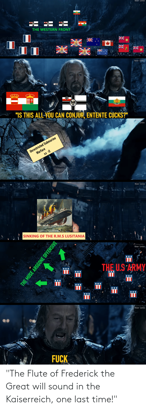 """sound: """"The Flute of Frederick the Great will sound in the Kaiserreich, one last time!"""""""