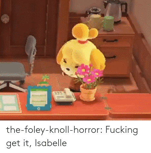 horror: the-foley-knoll-horror: Fucking get it, Isabelle