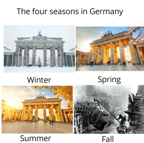Summer: The four seasons in Germany  123R  Winter  Spring  Summer  Fall  123R