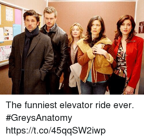 Memes, 🤖, and Greysanatomy: The funniest elevator ride ever. #GreysAnatomy https://t.co/45qqSW2iwp