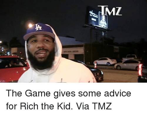 Rich The Kid: The Game gives some advice for Rich the Kid.  Via TMZ