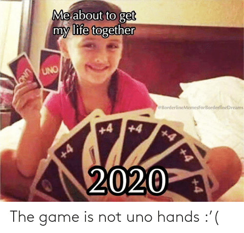 Uno: The game is not uno hands :'(