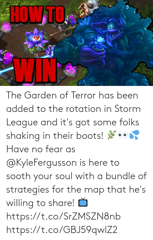 storm: The Garden of Terror has been added to the rotation in Storm League and it's got some folks shaking in their boots! 🌿👀💦  Have no fear as @KyleFergusson is here to sooth your soul with a bundle of strategies for the map that he's willing to share!  📺https://t.co/SrZMSZN8nb https://t.co/GBJ59qwlZ2