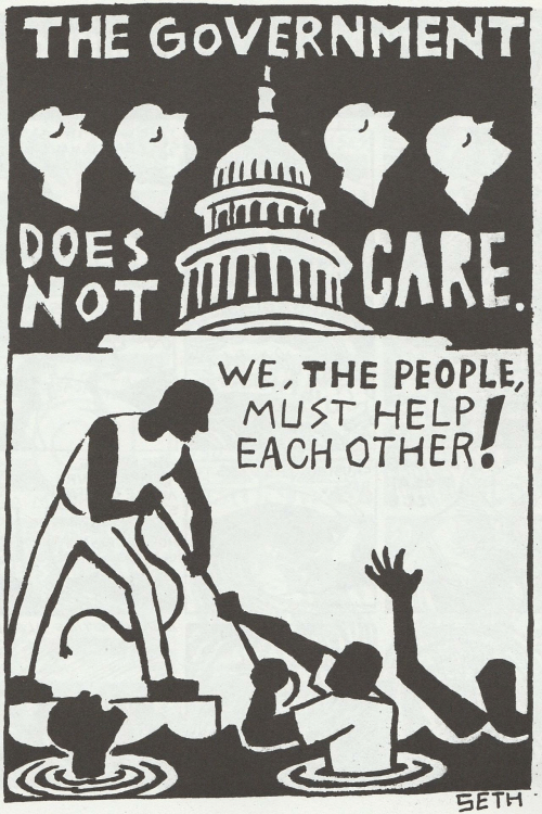 The People: THE GoVERNMENT  DOES  NoT  후 CARE  WE,THE PEOPLE,  MUST HELP  EACH OTHER  SETH