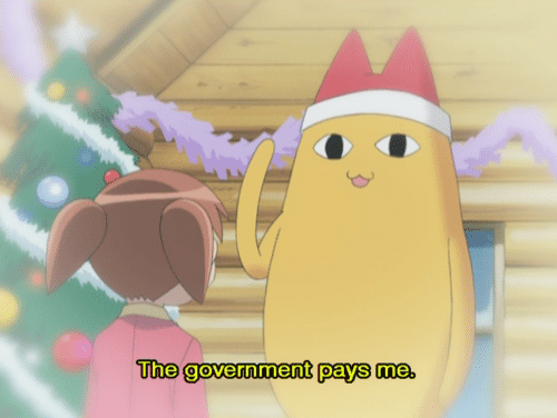 Government: The government pays me.