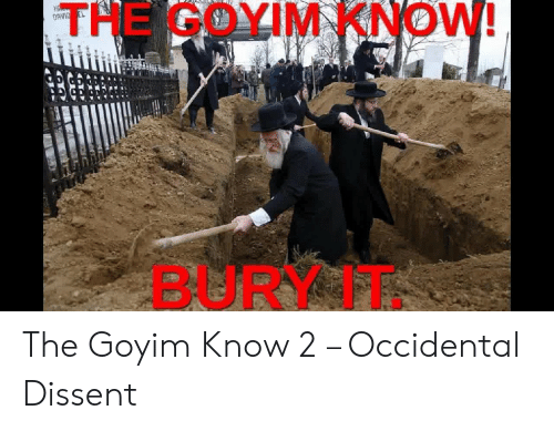Occidental Dissent: THE GOYIM KNOW!  BURY IT The Goyim Know 2 – Occidental Dissent