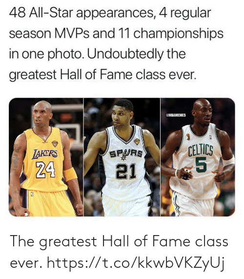 hall of fame: The greatest Hall of Fame class ever. https://t.co/kkwbVKZyUj