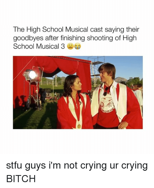 High School Musical: The High School Musical cast saying their  goodbyes after finishing shooting of High  School Musical 3 stfu guys i'm not crying ur crying BITCH