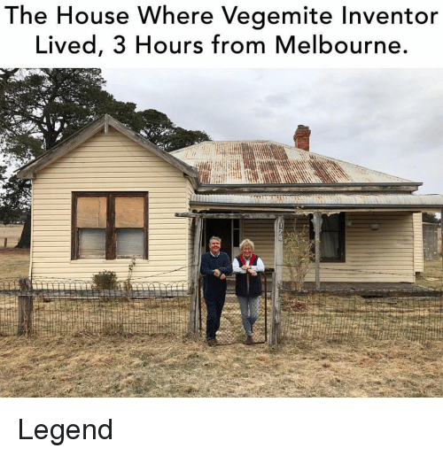Memes, House, and 🤖: The House Where Vegemite Inventor  Lived, 3 Hours from Melbourne. Legend