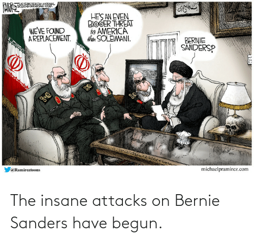 Bernie Sanders: The insane attacks on Bernie Sanders have begun.