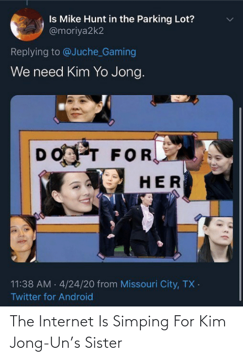 kim: The Internet Is Simping For Kim Jong-Un's Sister