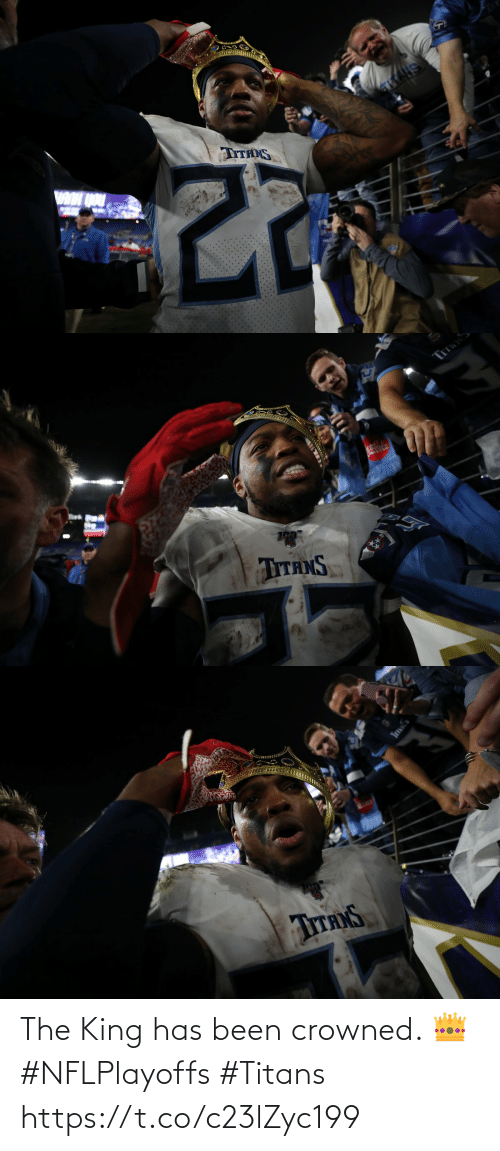 king: The King has been crowned. 👑 #NFLPlayoffs #Titans https://t.co/c23lZyc199