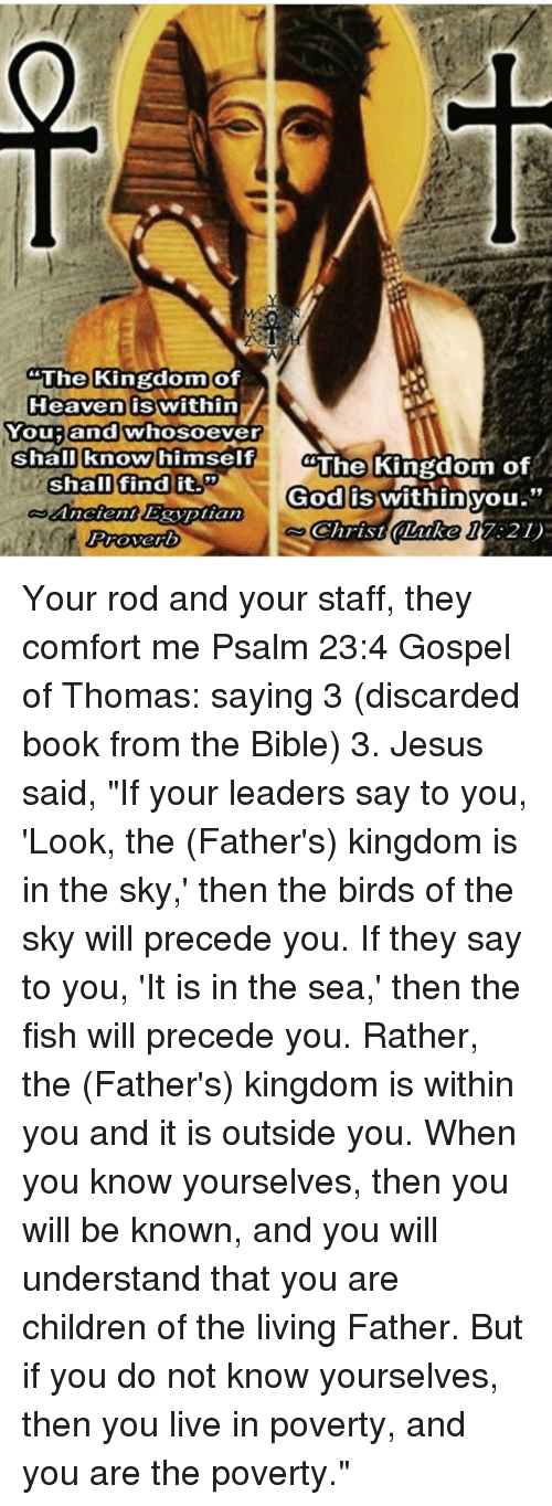 an analysis of the gospel of thomas and the hidden reality of the kingdom of heaven A comparison of these features of the kingdom of heaven and the kingdom of the kingdom of god in the gospel professing kingdom, but indicates the reality of.